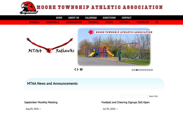 moore township athletic association website