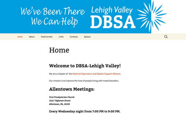 depression bipolar support alliance of lehigh valley website